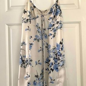 Urban Outfitters Ivory Blue Floral Sundress XS